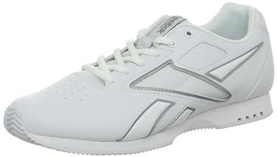 Reebok Women's Alpha Cheerleading Shoe,White/Pure Silver/Color Card,5 M US
