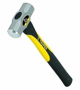 Truper 32686 2-Pound Engineer Hammer, Fiberglass Handle, 16-Inch
