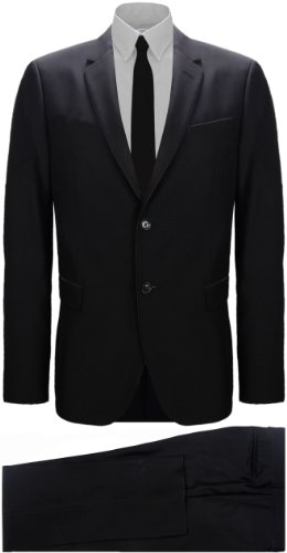 Moschino Black Two Piece Wool Blend Tailored Fit Suit (UK 50 / EU 60)