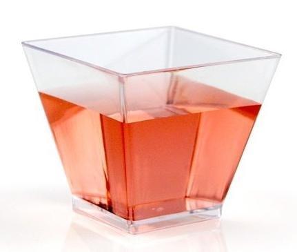 Verrines en plastique QUADRI 60 ml par 25