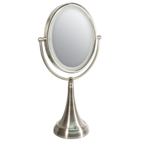 Zadro Ledovlv410 - Led Lighted 10X/1X Oval Vanity Mirror With Satin Nickel Finish front-728853