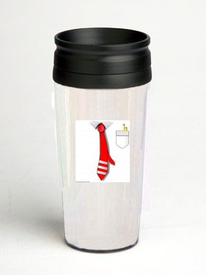 16 oz. Double Wall Insulated Tumbler with tie - Paper Insert
