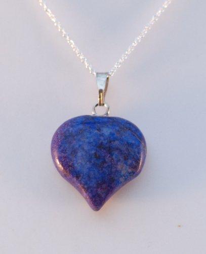 Jewel Mania Sodalite Heart Shaped Pendant on 16