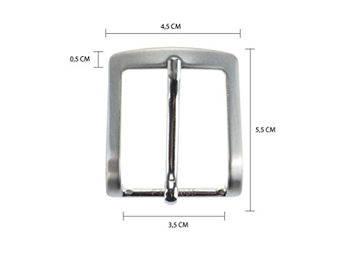 Fibbia per cinture nichel free anallergica 3.5 cm