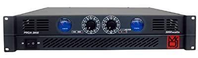 Mr. Dj PROA3000 PRO Series Power Dj Amplifier with 2 Channels and 3000 Watts Peak Momentary Power Output by Mr. Dj Inc.