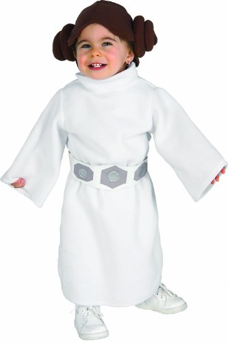 Rubie's Costume Star Wars Princess Leia Romper, White, 6-12 Months