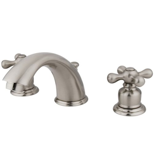 Kingston Brass Kb978x Victorian Widespread Lavatory Faucet With Cross Handle Satin Nickel O