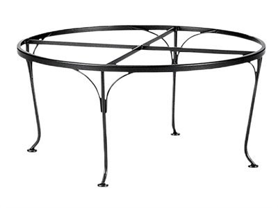 Woodard Universal Wrought Iron Coffee Patio Table Base Only
