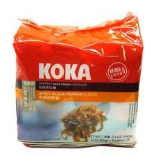 Koka Instant Noodles Spicy Black Pepper (Pack of 4x85grams)