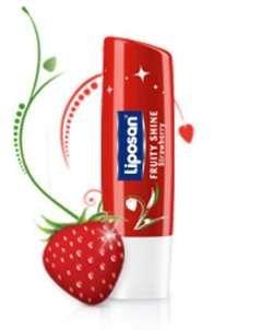Liposan (Labello) Fruity Shine Strawberry - Lip Care Balm - 4.8gr/5.5ml by Labello - Liposan