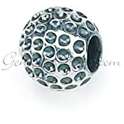 Sterling Silver Golf Ball Zable Bead Charm BZ144.991