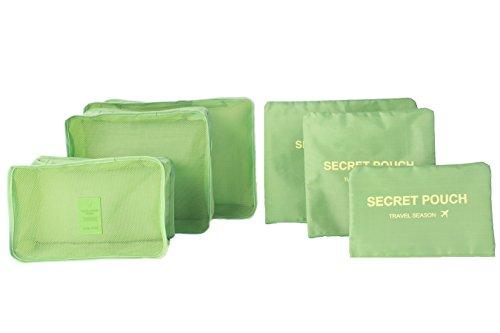 6pcs-set-impermeabile-vestiti-storage-bags-imballaggio-cube-valigia-da-viaggio-borsa-organizer-verde