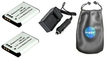 ValuePack (2 Count): Digital Replacement Battery PLUS Mini Battery Travel Charger for Specific Digital Camera and Camcorder Models / Compatible with PENTAX D-LI88, Optio: H90, P70, P80, W90, WS80, SANYO DB-L80, DMX-CG10, VPC-CG10, VPC-CG10BK, VPC-CG10P, VPC-X1200, Xacti: DMX-CG10, DMX-CG11, DMX-CG11D, DMX-CG11G, DMX-CG11W, VPC-CA100, VPC-CG10, VPC-CG10BK, VPC-X1420 Charges with Intelligent Charge Technology - Includes Car Adapter, TWO Batteries and ONE Leatherette Camera / Lens Accessories Pouch