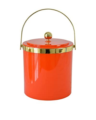 Patina Vie Vintage Ice Bucket, Red/Gold