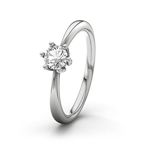 21DIAMONDS Women's Erin White Topaz Diamond Engagement Ring-Silver Engagement Ring