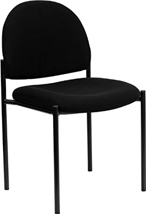 Flash Furniture BT-515-1-BK-GG Black Fabric Comfortable Stackable Steel