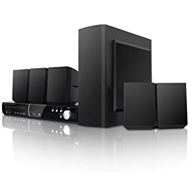 Coby DVD938 5.1-Channel DVD Home Theater System with Digital AM/FM Tuner (Black)