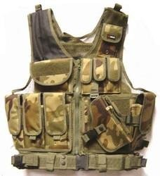 FireDragon Airsoft Tactical Gear - Green Camo 