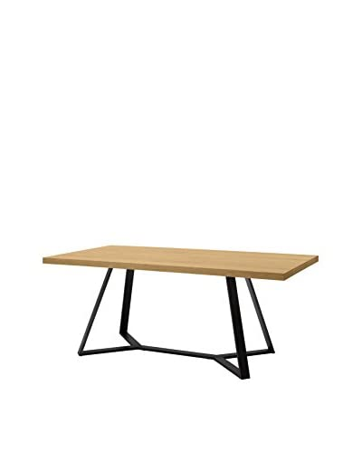Domitalia Archie Table, Anthracite/Oak
