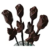 Chocolate Long Stem Roses - 1 single Rose for Valentine's Day, Mother's Day, Dark Chocolate
