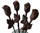 Chocolate Long Stem Roses - 1 single Rose for Valentines Day, Mothers Day, Dark Chocolate