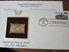 22 Kt Gold Stamp Replica Legendary Playing Fields Shibe Park, Philadelphia