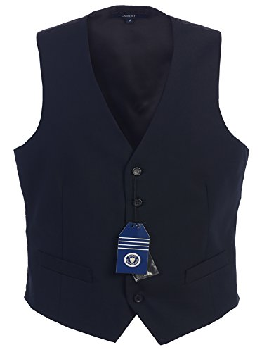 Gioberti Mens 5 Button Formal Suit Vest, Navy, Medium (Men Blue Suit compare prices)