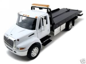 Collectable Diecast International Dura Star 4400 Flat Bed Tow Truck 1/24 White at Sears.com