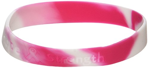 Pink Ribbon Camouflage Bracelets (Receive 12 Per Order)