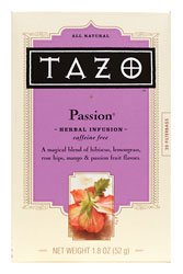 Herbal Infusion Tea-Passion (Decaf) Tazo Teas 20 Bag