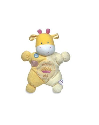 Comfort cuddly rattle toy in Yellow- Asthma & allergy friendly