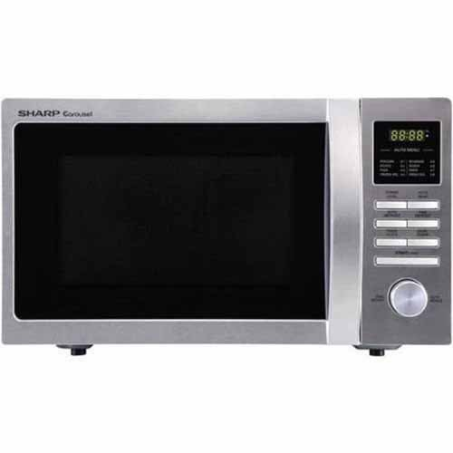 Best Prices! Sharp Compact Carousel Microwave Oven in Brushed Stainless Steel Finish, 900 Watts and ...