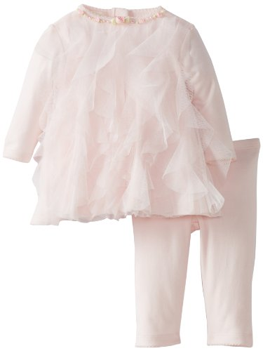 Review Biscotti Baby-Girls Newborn Rolling In Ruffles Dress and Legging, Pink, 3 Months
