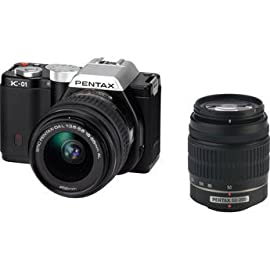 Pentax K-01 Digital Camera With 18-55mm & 50-200mm Lenses (Black)