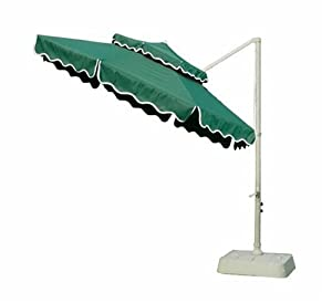 southern patio 10 foot round offset umbrella with