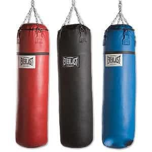 everlast leather heavy bag blue 50lb