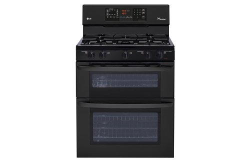 "Lg Ldg3035Sb 30"" Black Gas Sealed Burner Double Oven Range"