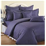 Swayam Sonata Jazz Cotton Double Bedsheet Set - Indigo (JAZZ 01-INDIGO)