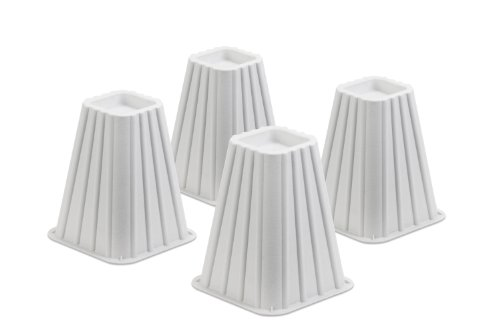 Buy Discount Honey-Can-Do STO-01006 Stackable Bed Risers, 4-Pack, White
