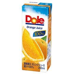 Dole(ドール) オレンジ 200ml紙パック×18本入