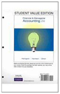 Student Value Edition for Financial & Managerial Accounting Plus MyAccountingLab Student Access Code Card Package (2nd Edition)