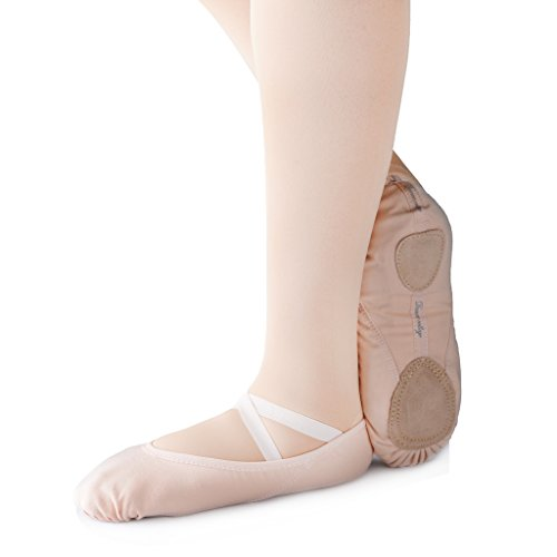 KUKOME-SHOP Canvas Ballet Shoe Girls' Ballet Flat Split Sole Different Sizes for Children and Adults (EU28/US11=7.09