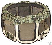 Large Camouflage Pet Tent Exercise Pen