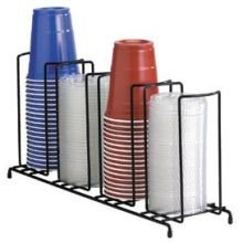 Dispense Rite WR Black Wire Rack Cup and Lid Organizer, 8 1/2 x 18 1/2 x 5 inch -- 3 per case.