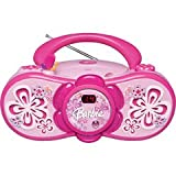 Barbie Bloombox BAR201 Portable CD Boombox with AM/FM Radio