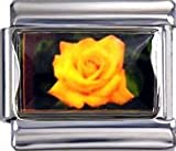 Italian Charms Yellow Rose (photo) For Italian Charm Bracelets. ArtNo:3136