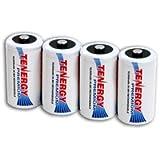 4 pcs of Tenergy Premium D Size 10000mAh High Capacity NiMH Rechargeable Batteries