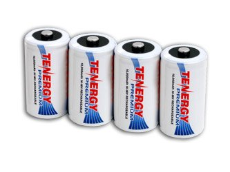 Tenergy Premium-4 pieces D Size 10000mAh High Capacity NiMH Rechargeable Batteries
