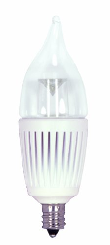 Kolourone S8894 2.7-Watt 2700K 120V, Clear Lens Lumens 80 Led E12 Candle Lamp, White