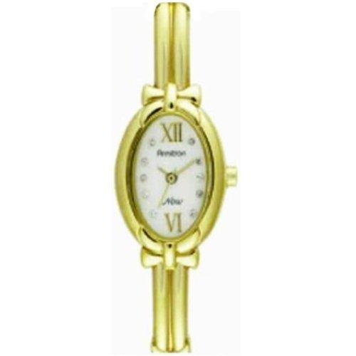 Armitron Ladies NOW Bangle Bracelet Watch Diamond Accent
